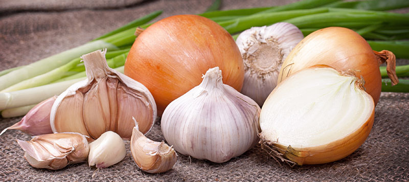 Whole Foods that Combat Psoriasis_garlic and oninons