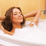 Aromatherapy for PMS_woman bathing